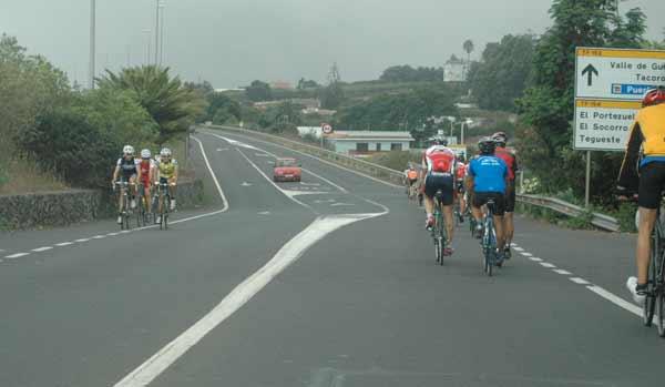 ciclista por carretera principal