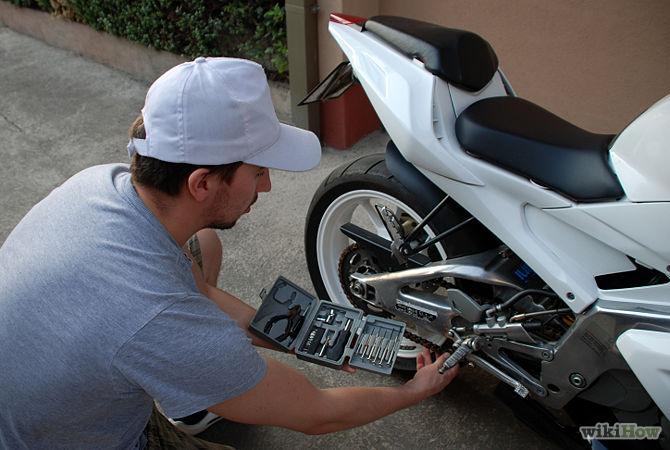 checking moto damage