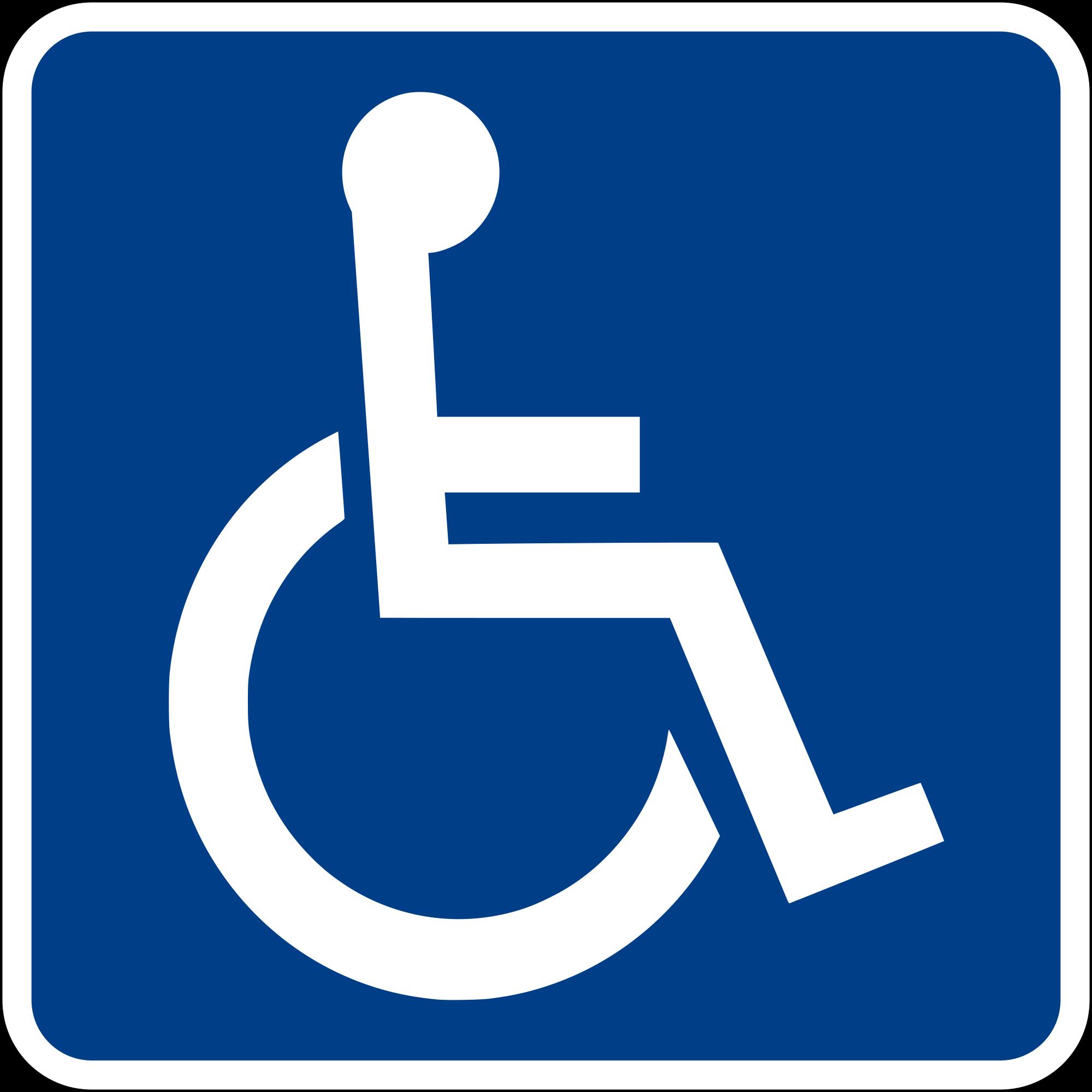 desabilitado simbolo Seguridad Vial