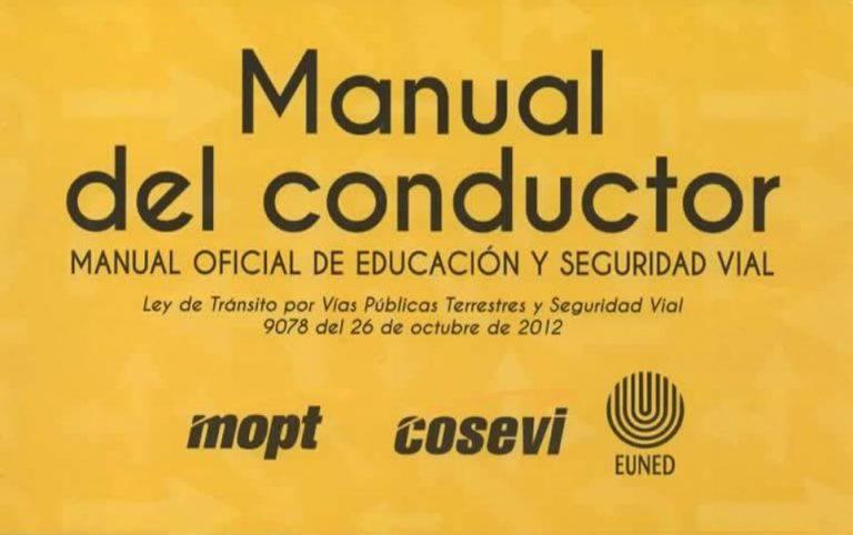 Descarga el Nuevo Manual del Conductor del 2021 en PDF de Costa Rica