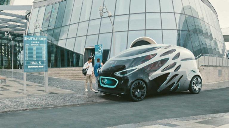 Daimler construye una furgoneta autónoma dos por uno para el transporte urbano