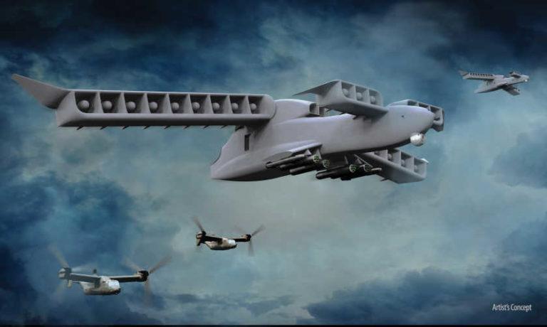 DARPA presenta LightningStrike, su nuevo avión de despegue vertical no tripulado