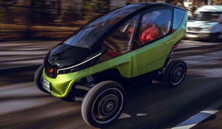 Triggo, el microcoche eléctrico que cambia de tamaño para conducir y aparcar mejor